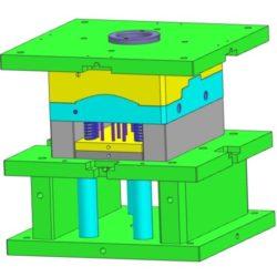 Moule prototype aluminium - 'porte-empreintes' communes en vert